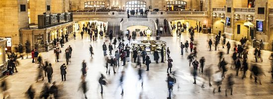 A busy Grand Central Station, New York City